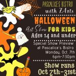 Halloween Art Show for Kids - Opening Reception @ Pascalice's Bistro